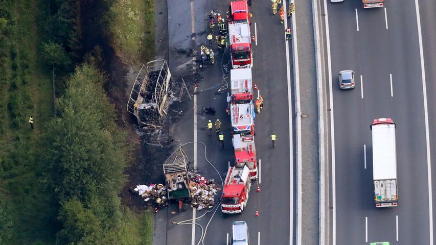 Auch nach dem sechsspurigen Ausbau gab es immer wieder verheerende Unfälle auf der A9. So starben im Juli 2017 in Höhe von Gefrees 18 Menschen bei einem Busunfall.