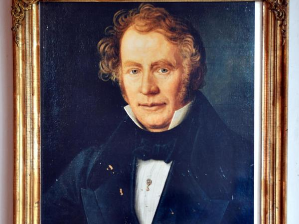 Offen und voller Tatkraft wirkt Johann Wilhelm Spaeth auf dem Bildnis von 1839, das Johann Eggart zugeschrieben wird. Das Original gilt als verschollen, wurde vermutlich gestohlen, dem Ehepaar Trott blieb nur ein Foto.