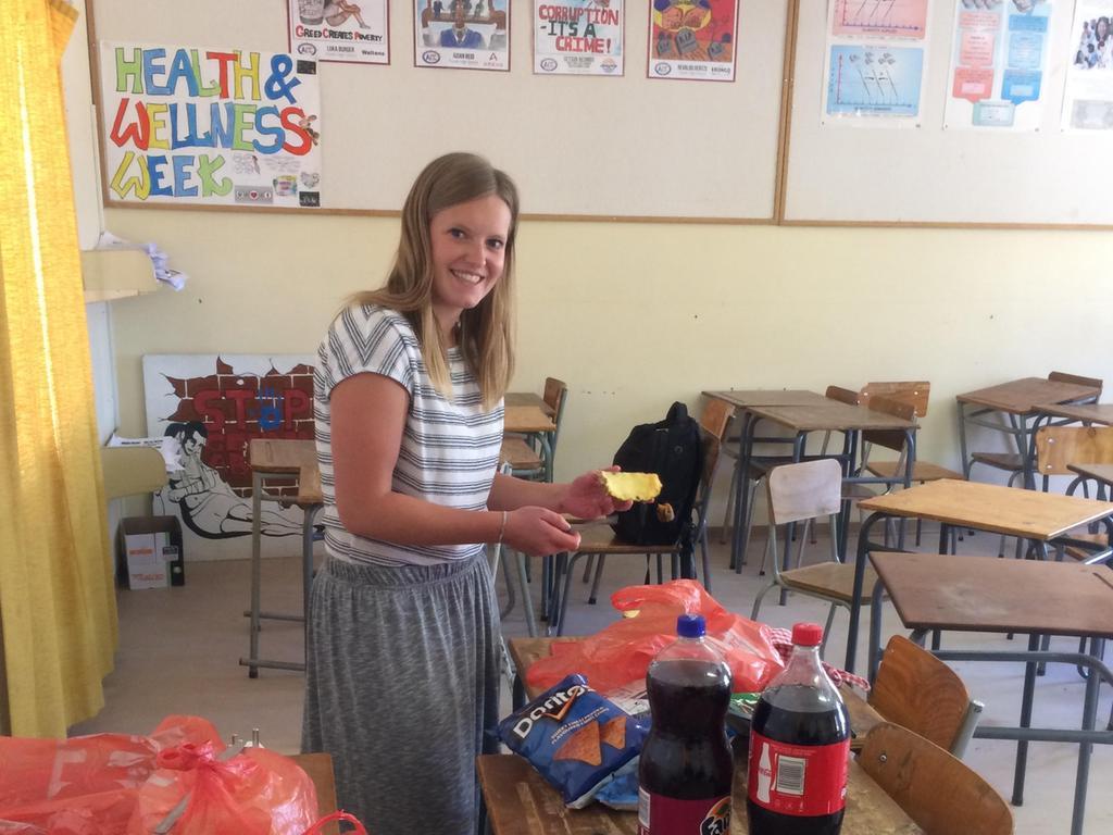 Inga in der namibischen Schule