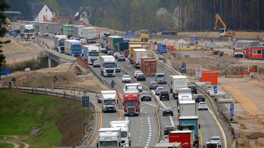 Danach, also theoretisch schon im Jahr 2020, könnte es gleich mit dem Ausbau des elf Kilometer langen Abschnitts von Schwabach-West bis Triebendorf losgehen. Ende 2018 wird dafür die Planfeststellung beantragt.