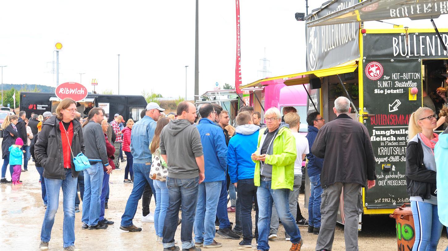 Essen auf Rädern: Food Trucks rollen schon lange durch Franken, am 7. und 8. August machen sie zum ersten Mal Halt in Höchstadt.
