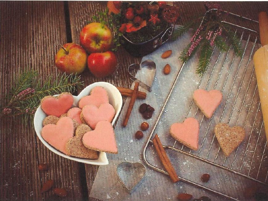 Cranberry-Zimtherzen von Christina Kellner