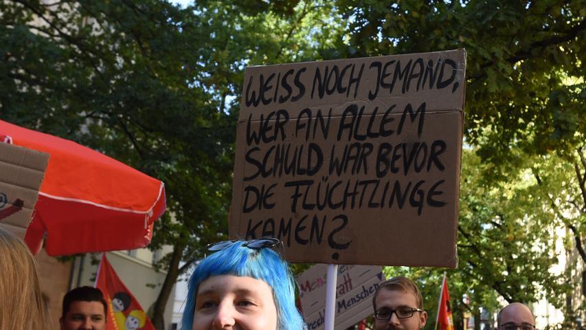 PG des Buendnisses Nuernberg gegen die AfD..Foto: Anja Hinterberger (pauschal)..29.09.2018..NN/NZ.Nuernberg .Lokales