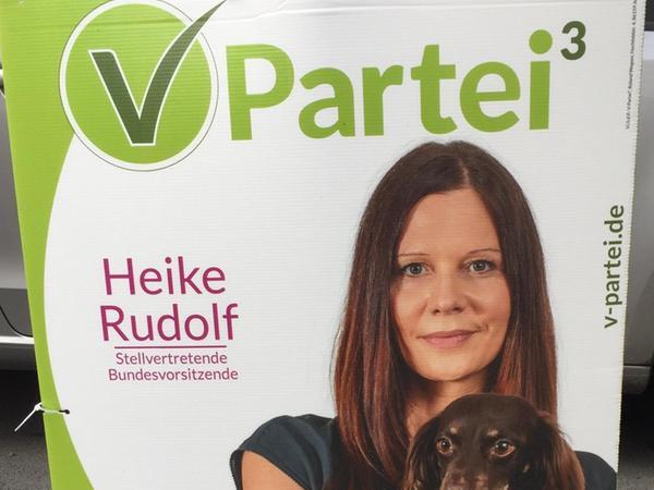 Die V-Partei³ setzt sich für die Rechte von Tieren ein und möchte Vegetariern eine politische Heimat bieten.