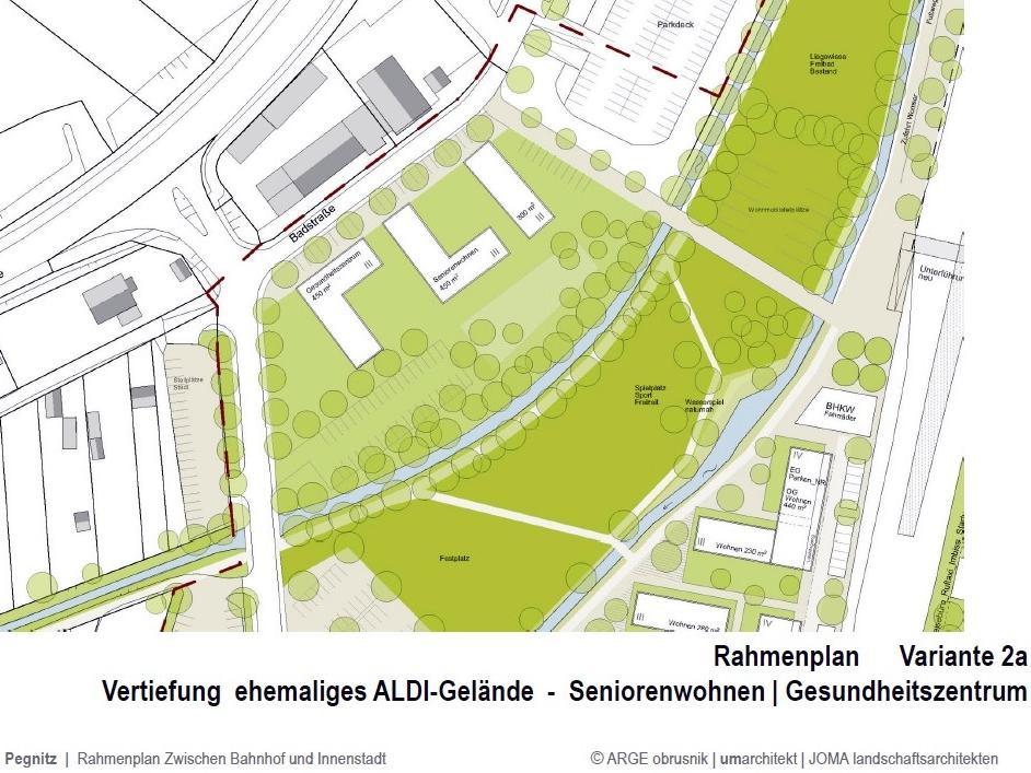 Statt des Geschäftshauses würden die Planer in der Badstraße lieber ein Gesundheitszentrum, ein Seniorenheim und eine Kindertagesstätte sehen.