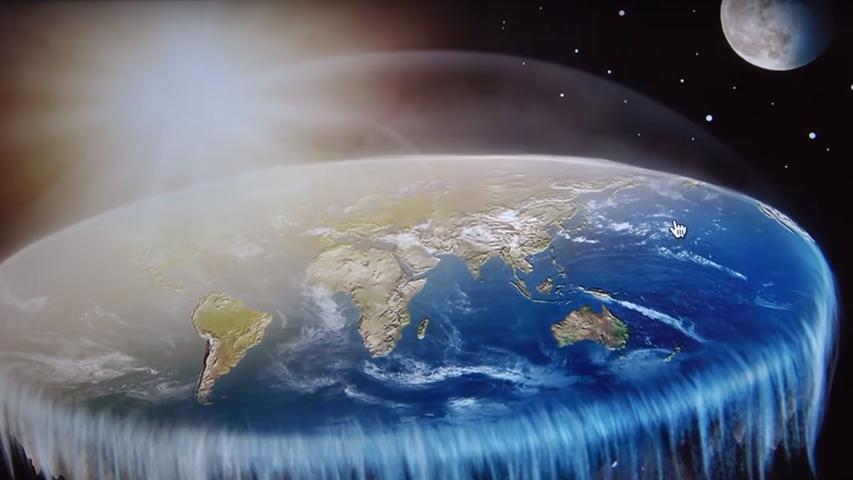 Die Darstellung der Erde als Kugel ist die monströseste Lüge, der die Menschheit jemals ausgesetzt war. Die Erde ist nämlich in Wirklichkeit eine Scheibe. In ihrem Zentrum liegt der Nordpol, der kreisrunde Südpol umfasst ihren Rand und wird von bewaffneten Mitarbeitern der Nasa bewacht. Klingt vollkommen verrückt? Nicht in den Ohren der Flat Earth Society.  Während die Annahme, die Erde sei eine Scheibe, lange Zeit fast nur bei fundamentalistischen Christen verbreitet war, ist die Scheibenwelt inzwischen im Verschwörungstheorie-Mainstream angekommen. Warum die Regierungen der Welt ihre Völker über die wahre Gestalt der Welt belügen? Ganz einfach: Weil sie es können.