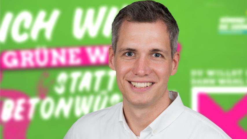 Für Erlangen-Stadt zieht Christian Zwanziger für die Grünen ins Maximilianeum ein.
