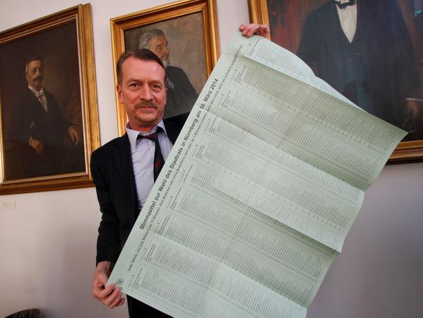 So sah der Wahlzettel bei den letzten Kommunalwahlen 2014 aus.
