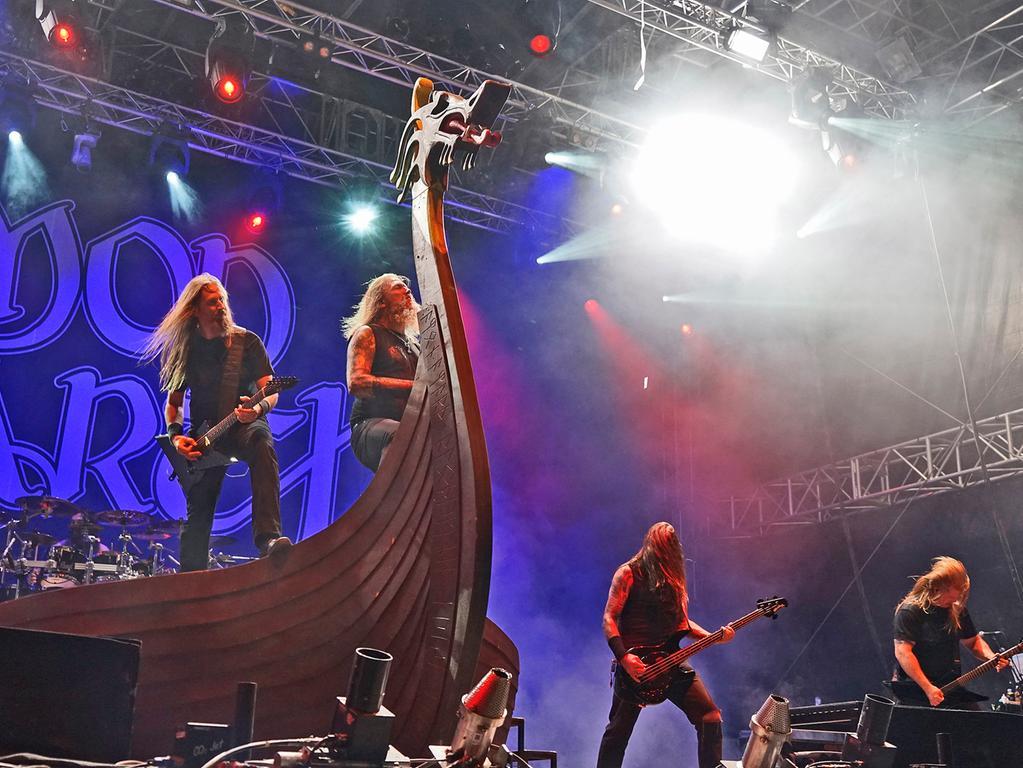 RESSORT: HA Feuilleton.FOTO: HvD.MOTIV: 20. Summer Breeze Festival in Dinkelsbühl-Sinbronn; Deutschlands zweitgrößtes Hard- and Heavy-Festival nach Wacken feiert 20. Geburtstag mit 120 Bands und gut 40000 Zuschauern, hier die Gruppe