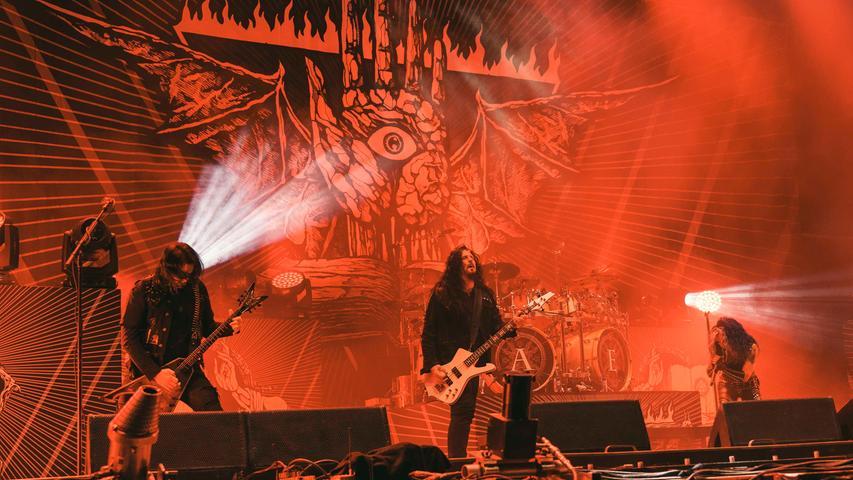 Noch eine Band aus Schweden sorgt für Stimmung auf dem Festival: Arch Enemy sind ebenfalls dabei.