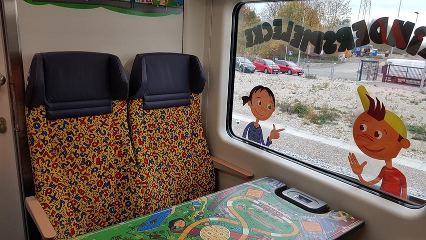 So sieht die neue Kinderecke direkt hinter dem Steuerwagen der Skoda-Züge aus.