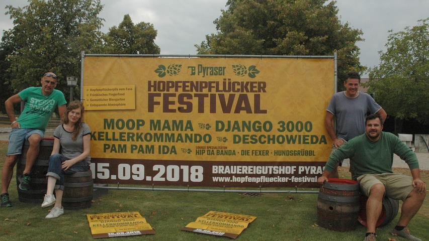 Auch mit Festen wie dem Hopfenpflücker-Festival will sich die Pyraser Brauerei in den Köpfen der Konsumenten festsetzen. Wie der gesamten Branche kam den Mittelfranken in diesem Jahr aber auch das über viele Wochen hinweg großartige Wetter entgegen. Marketingchef Alexander Schwab sprach schon im Juni von