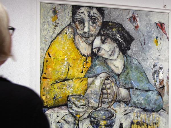 """""""Erinnerung ans Drachensteigen"""" ist Reiner Grunwalds Lieblingsbild in der Ausstellung im M 11."""