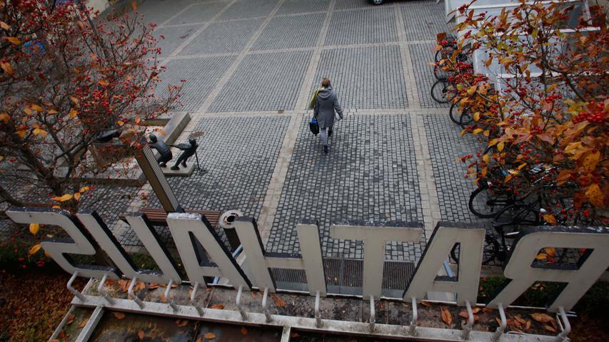 Nostalgischer Blick: Das Herzogenauracher Rathaus vor dem Abriss