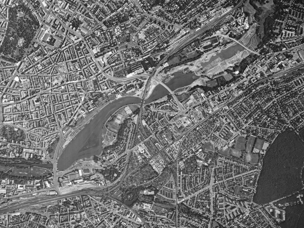 FOTO: Bayerische Vermessungsverwaltung, gesp. 11/2018 für Berichterst...MOTIV: Franken; Luftbild; Region; Draufsicht...Hier: Nürnberg; 78009_0_0102– Wöhrder See, 31.07.1978; historisch; 1970er..