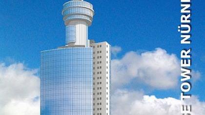 118 Meter sollte der Hotelturm an der Messe hoch werden. Architekt Tom Krause suchte aber vor einigen Jahren vergeblich nach einem Hotelbetreiber. Jetzt nimmt die Alpha-Gruppe einen neuen Anlauf für ein Messe-Hotel. Simulation: Messe