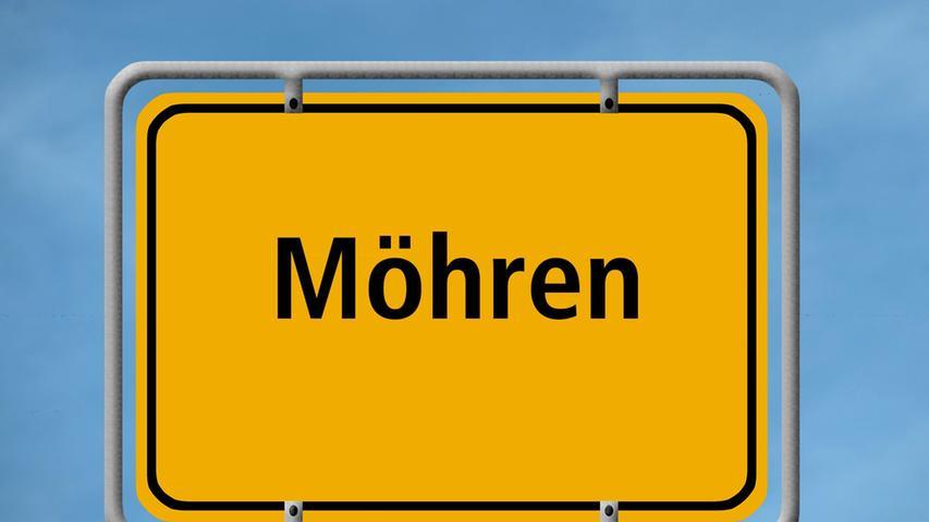 Karottendorf? Gelbe-Rüben-Gemeinde? Nein, der Treuchtlinger Ortsteil, der mitten im Altmühltal liegt, hat seinen Namen vom gleichnamigen Schloss, das über der Ortschaft thront. Und dessen Name geht wohl auf die Grafenbrüder Otto und Heinrich von Mern zurück, die im 12. Jahrhundert im Zusammenhang mit dem Schloss erstmals urkundlich erwähnt wurden. Wem nicht so nach Kultur ist, kann in Möhren aber auch sportlich werden: Dort lädt zum Beispiel das Möhrenbachtal zu Wanderungen und Radtouren ein.