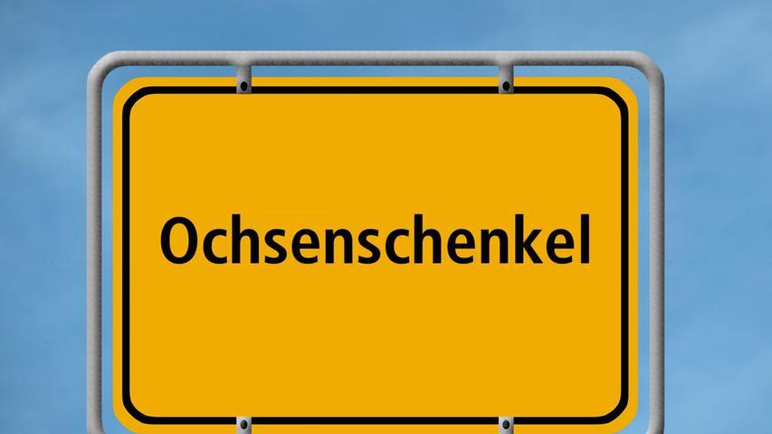 Ist ein Ortsteil des mittelfränkischen Vestenbergsgreuth und liegt im Landkreis Erlangen-Höchstadt. Ob die Bewohner eine besondere Vorliebe für Fleischgerichte aus den Schenkeln kastrierter männlicher Rinder haben, ist nicht bekannt. Woher der Name kommt, ist dagegen relativ klar und hat mit der Form der Siedlung zu tun. Er bedeutet: