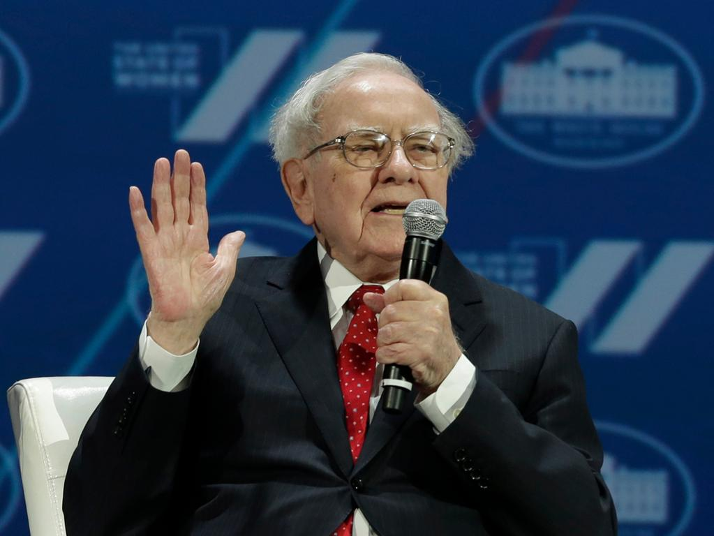 (FILES) This file photo taken on June 14, 2016 shows Investor Warren Buffett during the