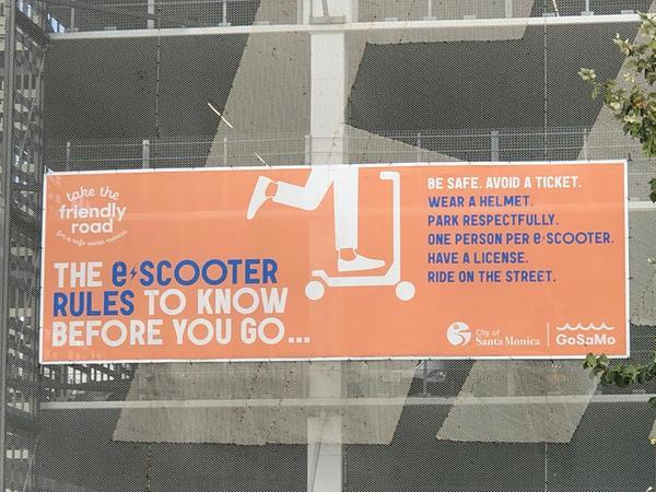 Regeln für e-Scooter: Auch im kalifornischen Santa Monica weiß man um das Konfliktpotential.