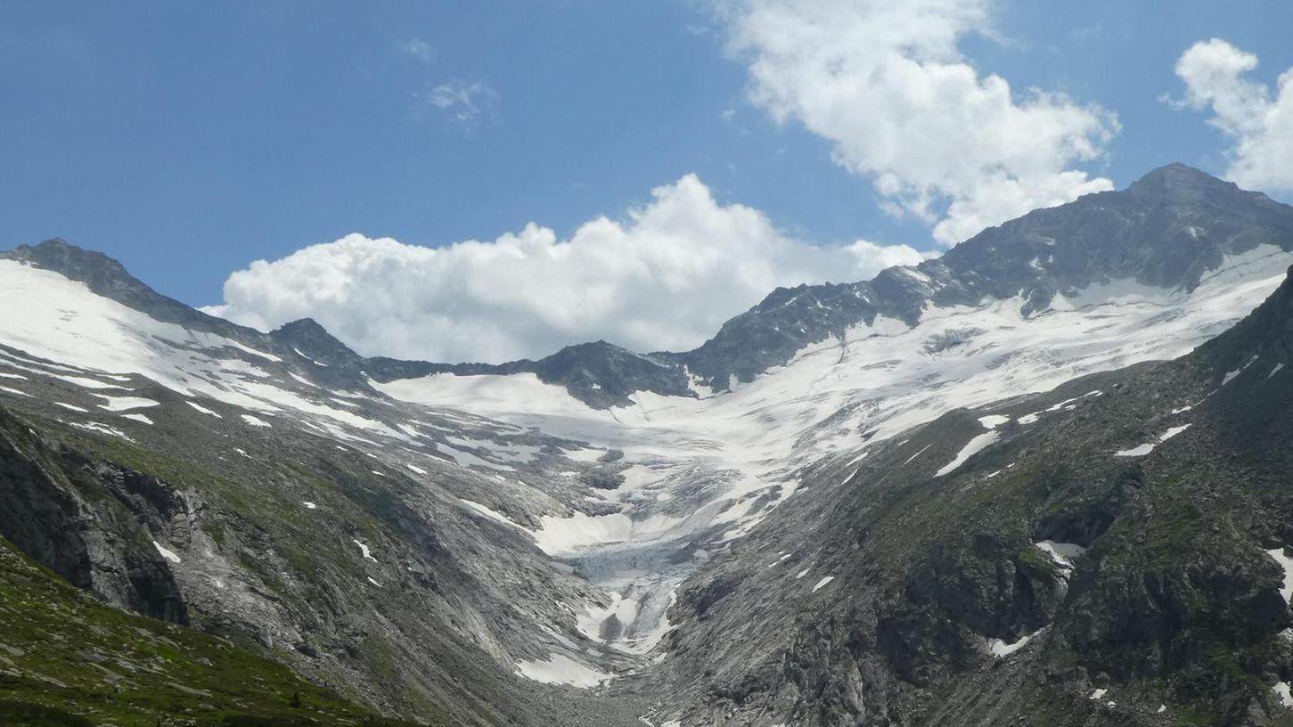 Kaum wiederzuerkennen: Der Gletscher oberhalb der Berliner Hütte in den Zillertaler Alpen 2018...