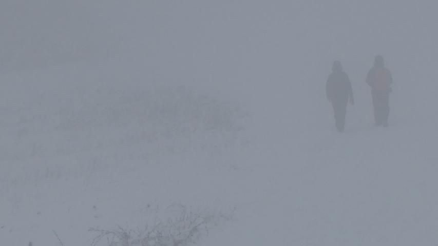 Keine zehn Meter konnte man dieser Tage am Walberla schauen. Es war richtig gespenstisch.
