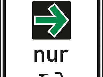 Der Grünpfeil nur für Radfahrer: So sieht das Verkehrsschild aus, das aktuell in Bamberg und München getestet wird.