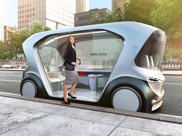 Autonomer Shuttle: Bosch demonstriert auf der Consumer Electronics Show diesen