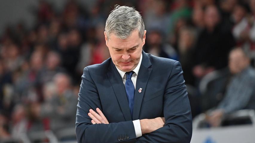 12.01.2019 --- Basketball --- Bundesliga ---Saison 2018 2019 --- 10. Spieltag: Brose Bamberg - Rasta Vechta --- .Headcoach / Trainer Ainars Bagatskis (Brose Bamberg)..--- Foto: Sport-/Pressefoto Wolfgang Zink / HMI --- ......