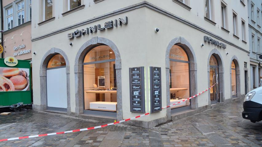 Einbruch in Bamberger Juwelier