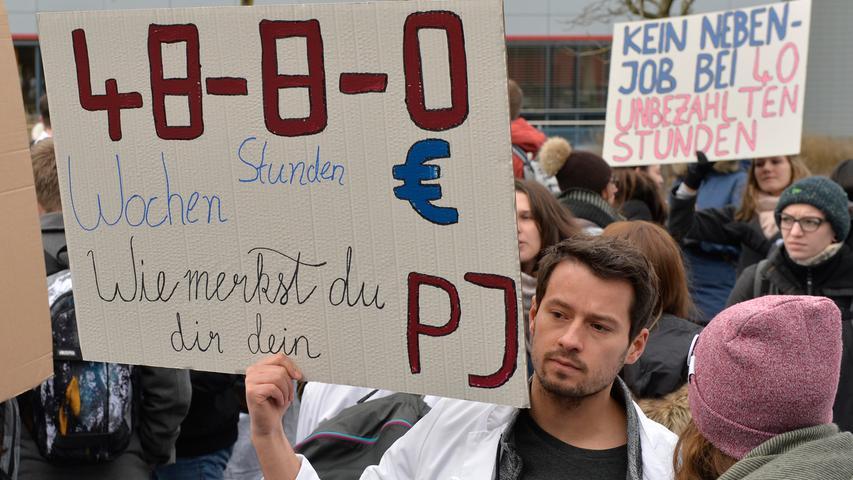 Für ein faires PJ: Medizinstudenten auf Erlangens Straßen