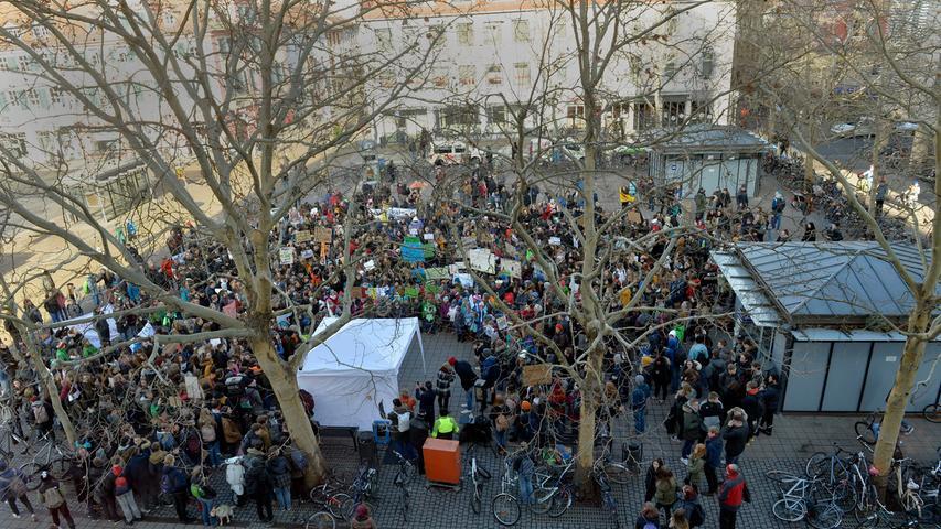 #FridaysForFuture: Schüler in Erlangen demonstrieren gegen Klimawandel