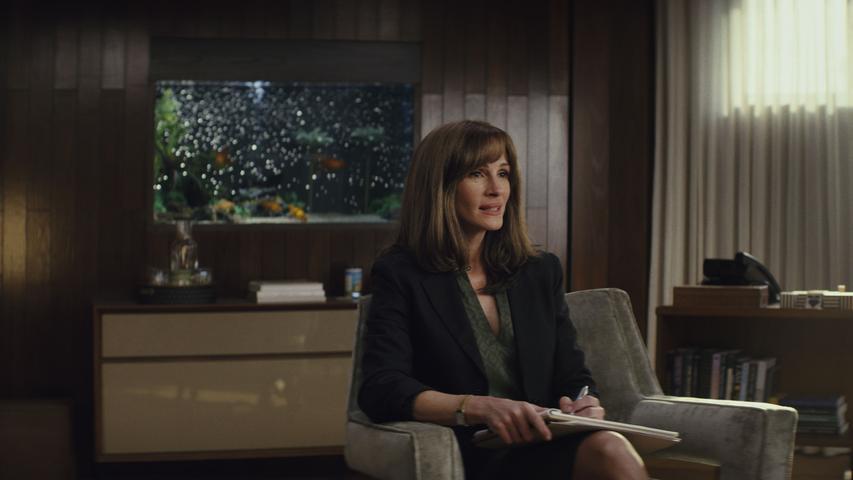 Das Serien-Comeback von Kinostar Julia Roberts kennzeichnet ein reduziertes, aber stilsicheres Psycho-Drama um eine staatliche Verschwörung. Die Serie von