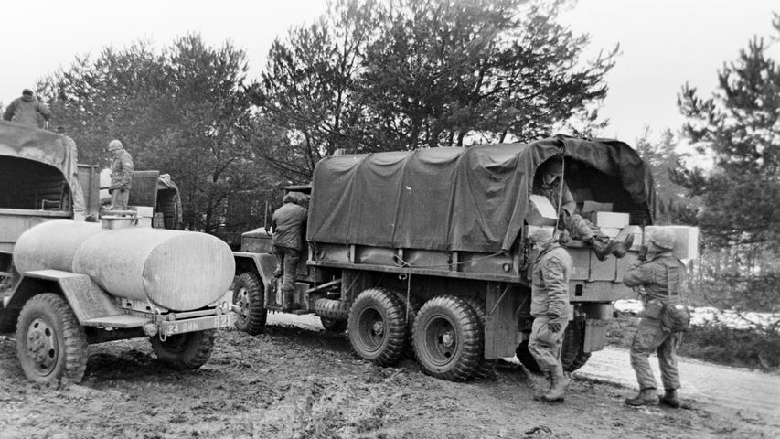 Die Versorgung der verschiedenen Truppenteile war eine logistische Meisterleistung.