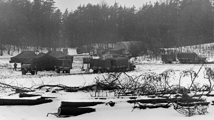 Nahe Eichenstruth hatten die Amerikaner ihr Manöverzentrum aufgeschlagen.