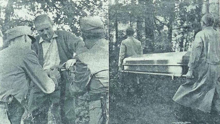 Aus Habgier tötete Otto R. im Jahr 1958 mit einem Komplizen drei Menschen. Nach der Festnahme schluckte R. im Streifenwagen unauffällig Zyankali und starb wenig später auf dem Weg ins Krankenhaus. Die Ermittlungen begannen mit einem Arm, der in einem Teich bei Lauf auftauchte.