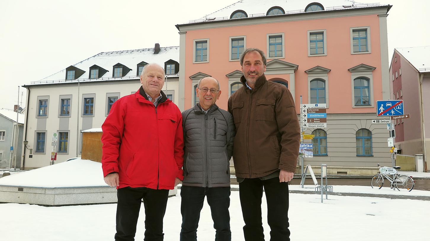 Christian Früh, Manfred Kreß und Klaus Fackler (von links) kehren den Treuchtlinger Freien Wählern den Rücken und gründen eine eigene Wählergemeinschaft.