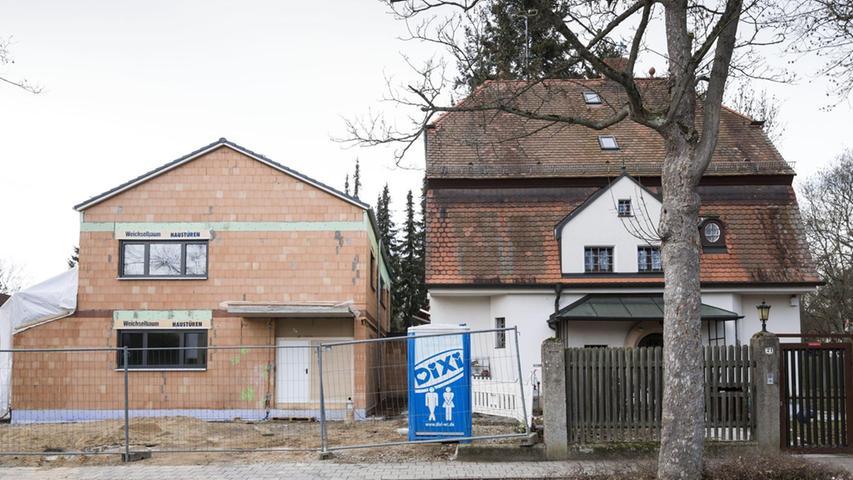 Andere müssen Neubauten weichen, wie das Haus an der Ecke von Bismarck- und Berolzheimerstraße, dessen Abriss bereits feststeht.