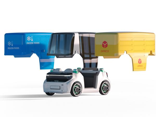 Schaeffler Mover: Der urbane Robo-Mini kombiniert seine Plattform mit verschiedenen Aufbauten.