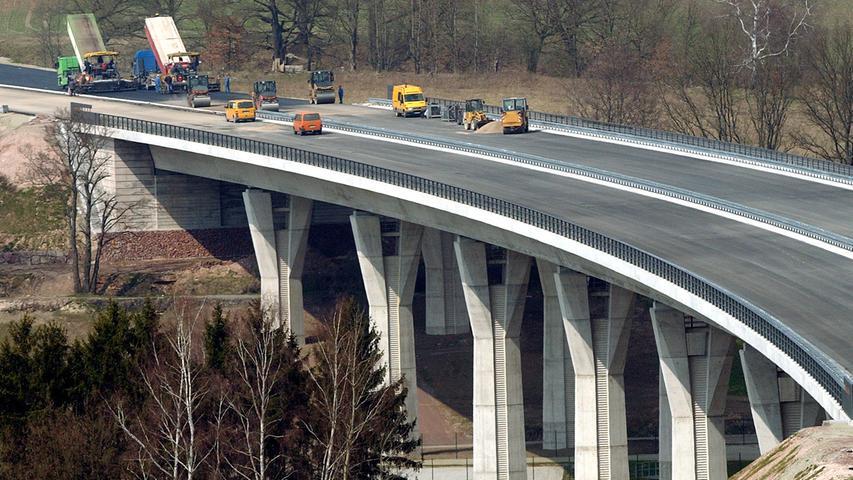 Der Bauabschnitt Schleusingen-Eisfeld-Nord, zu dem auch die Talbrücke
