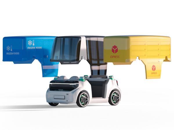 Schaeffler Mover: Fährt autonom und elektrisch - und kombiniert seine Plattform mit austauschbaren Aufbauten.