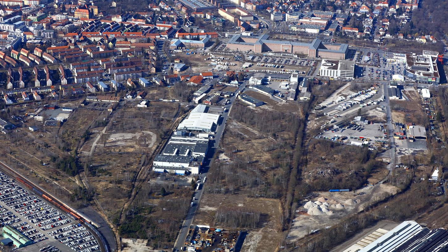 Hier an der Brunecker Straße entsteht Nürnbergs neuer Stadtteil.