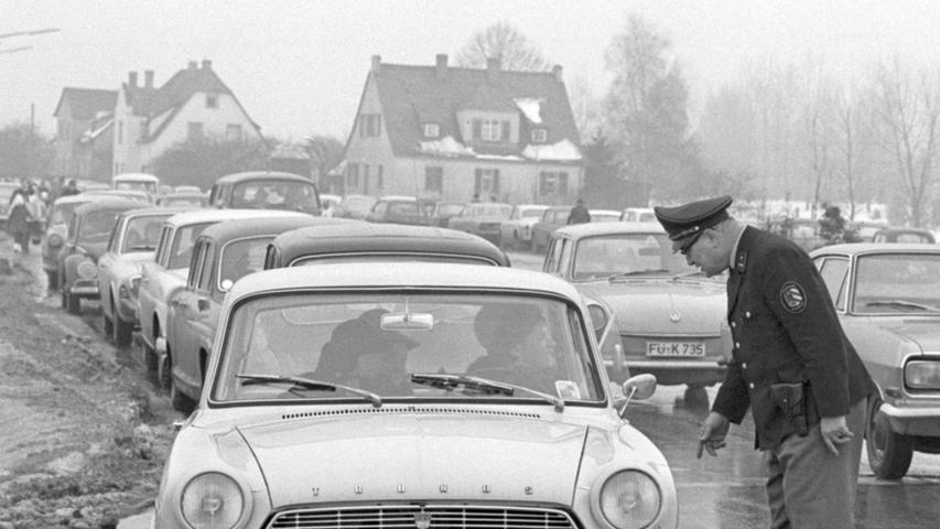 Auf dem Nürnberger Flughafen landeten und starteten im Januar 1969 pausenlos US-Militärmaschinen. Es lief das Manöver