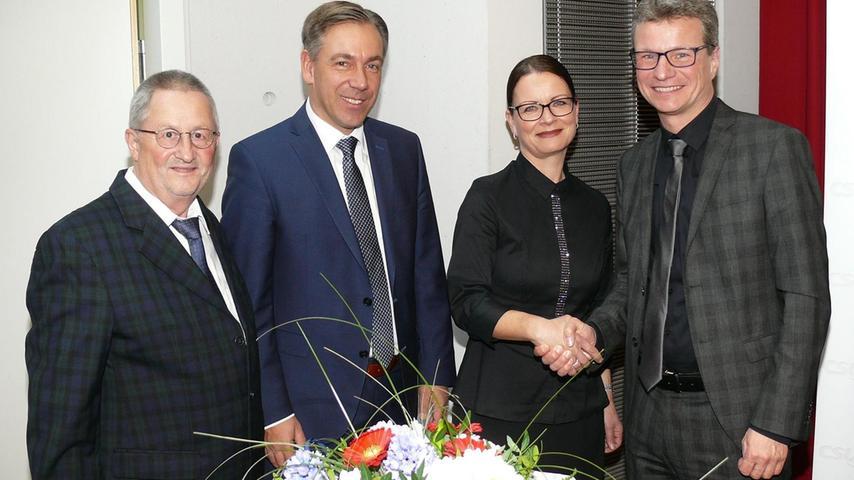 Eberhard-Brunel Geuder, Landrat Alexander Tritthart und CSU-Ortsvorsitzende Anika Davidson (v.li.) freuten sich über den Besuch aus München.