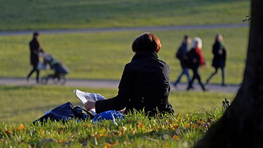 Die weitläufige Fläche des Marienbergparks im Norden Nürnbergs bietet für alle Picknicker den nötigen Platz.
