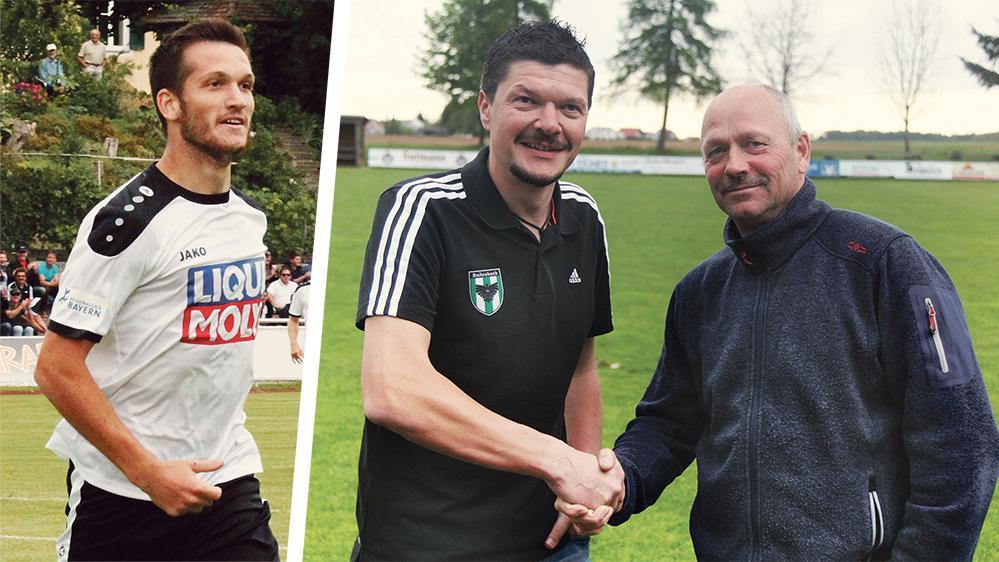 Ein Bild vom Sommer 2017: Damals begrüßte Hans-Peter Hoh (li.) Markus Vochezer als neuen Raitenbucher Trainer. Jetzt erfolgte die Trennung.