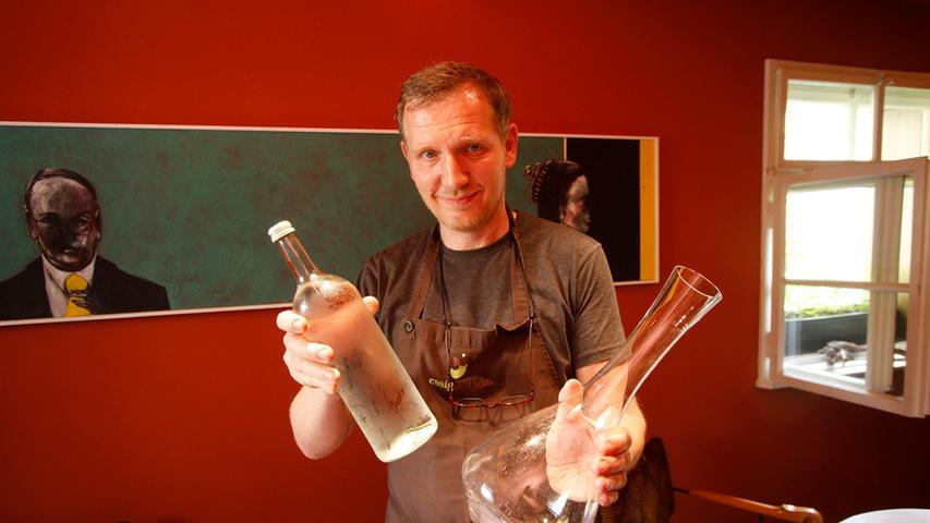 Seit 1989 kocht Andree Köthe (Foto) in dem schönen alten Sandsteinhaus am Weinmarkt in Nürnberg. 1997 kam Yves Ollech dazu, mit dem er bis heute das