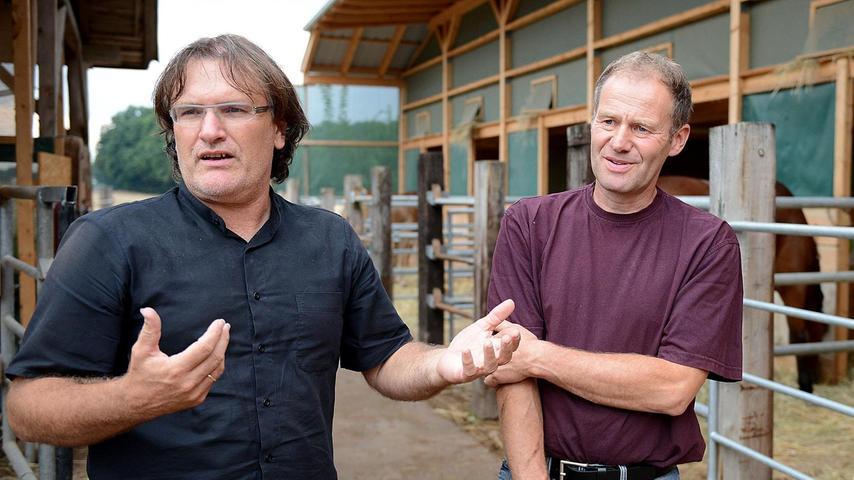 Architekt Peter Dürschinger (links) und der Bauherr Fritz Stiegler.