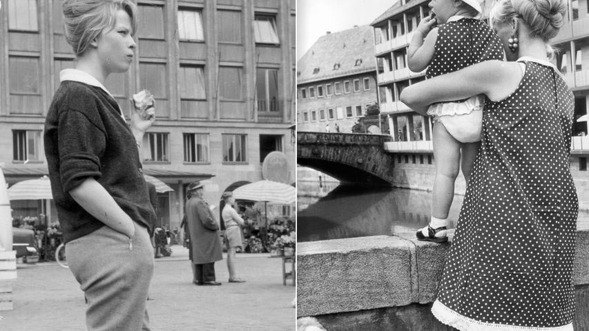 """Ob in Gerardis Werken ein dezidiert weiblicher Blick zum Ausdruck kommt? Diese Frage ist kaum zu beantworten. Dennoch sollen diese Bildkombo und ein weiteres Zitat dafürstehen, dass sie sich ihrer Rolle als Frau in einem damals noch weitgehend Männern vorbehaltenen Beruf und der Bedeutung der Frauenbewegung durchaus bewusst war. 1999 resümierte sie vielleicht etwas zu begeistert: """"Wir haben so sehr viel verschiedene Entwicklungen durchgemacht, mussten uns immer wieder durchsetzen. Das war ein phänomenales Jahrhundert.""""  (aus einem Interview mit Gaby Franger)"""