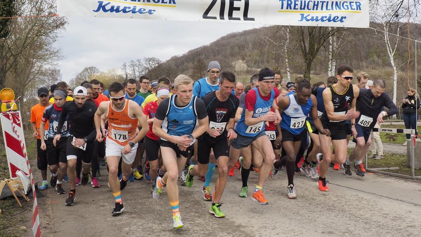 Im Raiffeisen-Läufer-Cup 2019: Der 25. Frühjahrslauf des ESV Treuchtlingen
